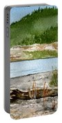 Maine Beach Wood Portable Battery Charger