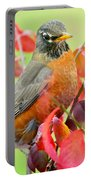 Maine Fall Robin Portable Battery Charger