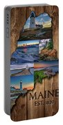 Maine Lighthouses Collage Portable Battery Charger