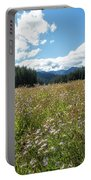 Maisie In A Field Of Flowers Portable Battery Charger