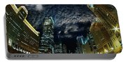 Majestic Chicago - Windy City Riverfront At Night Portable Battery Charger