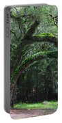 Majestic Fern Covered Oak Portable Battery Charger