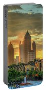 Majestic Gold Midtown Atlantic-station Atlanta Sunrise Art Portable Battery Charger