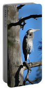 Majestic Great Blue Heron 1 Portable Battery Charger