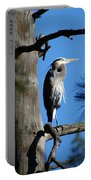 Majestic Great Blue Heron 2 Portable Battery Charger
