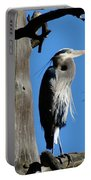 Majestic Great Blue Heron Portable Battery Charger