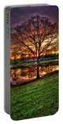 Majestic Sunrise Reflections Art Portable Battery Charger