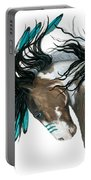 Majestic Turquoise Horse Portable Battery Charger