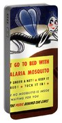 Malaria Mosquito Portable Battery Charger by War Is Hell Store