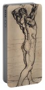 Male Act   Study For The Truth Portable Battery Charger by Ferdninand Hodler