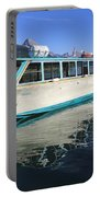 Maligne Lake Tour Boat Reflection Portable Battery Charger