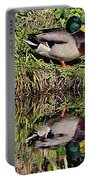 Mallard And Reflection Portable Battery Charger