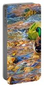 Mallard At The River - Impressions Portable Battery Charger