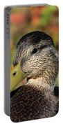 Mallard In The Fall Portable Battery Charger