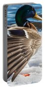 Mallard On Ice Portable Battery Charger