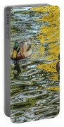 Mallards On Golden Pond 3 Portable Battery Charger