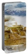 Mammoth Hot Springs In Yellowstone National Park, Wyoming. Portable Battery Charger