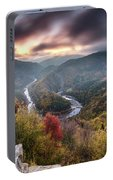 Man Above A River Meander Portable Battery Charger