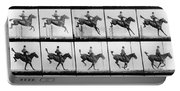 Man And Horse Jumping Portable Battery Charger