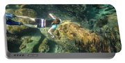 Man Free Diving Portable Battery Charger