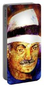 Man In The Panama Hat Portable Battery Charger