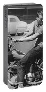 Man Riding A Motorcycle Portable Battery Charger