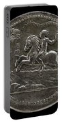 Man Riding Towards A Cliff Carrying A Scroll [reverse] Portable Battery Charger
