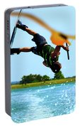 Man Wakeboarding Portable Battery Charger by Fernando Cruz