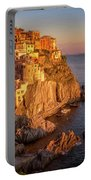Manarola Dusk Cinque Terre Italy Painterly Portable Battery Charger
