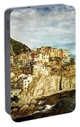 Manarola In The Sun - Vintage Version Portable Battery Charger