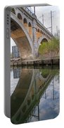 Manayunk Canal Bridge Reflection Portable Battery Charger