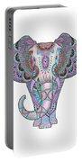 Mandala Elephant Indigo Portable Battery Charger