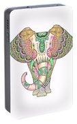Mandala Elephant Psicodelic Portable Battery Charger