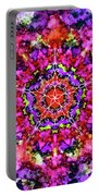 Mandala Floral Red Purple Portable Battery Charger