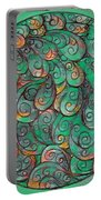 Mandala In Green Portable Battery Charger