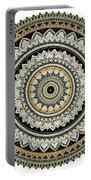 Black And Gold Mandala Portable Battery Charger