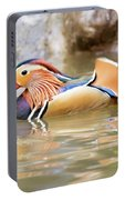 Mandarin Duck Swimming Portable Battery Charger