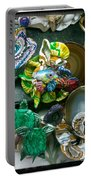 Mandarin Goby Hanging With Emerald Turtles Portable Battery Charger