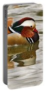 Mandrin Duck Going For A Swim Portable Battery Charger