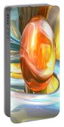 Mango And Cream Abstract Portable Battery Charger