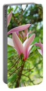 Mangolia Tree Flowers Art Prints Pink Magnolias Baslee Troutman Portable Battery Charger