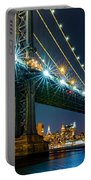 Manhattan Bridge Framing Freedom Tower Portable Battery Charger