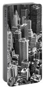 Manhattan In Monochrome. Portable Battery Charger