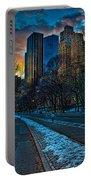 Manhattan Sunset Portable Battery Charger by Chris Lord