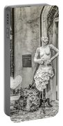 Mannequin On The Street Bw Portable Battery Charger