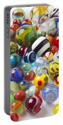 Many Beautiful Marbles Portable Battery Charger by Garry Gay