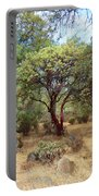 Manzanita And Pine Trees At Meadow Edge Portable Battery Charger