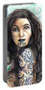 Maori Woman Portable Battery Charger