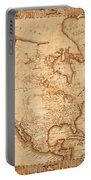 Map Of America 1800 Portable Battery Charger