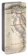 Map Of Aegyptus Antiqua Portable Battery Charger by Sydney Hall